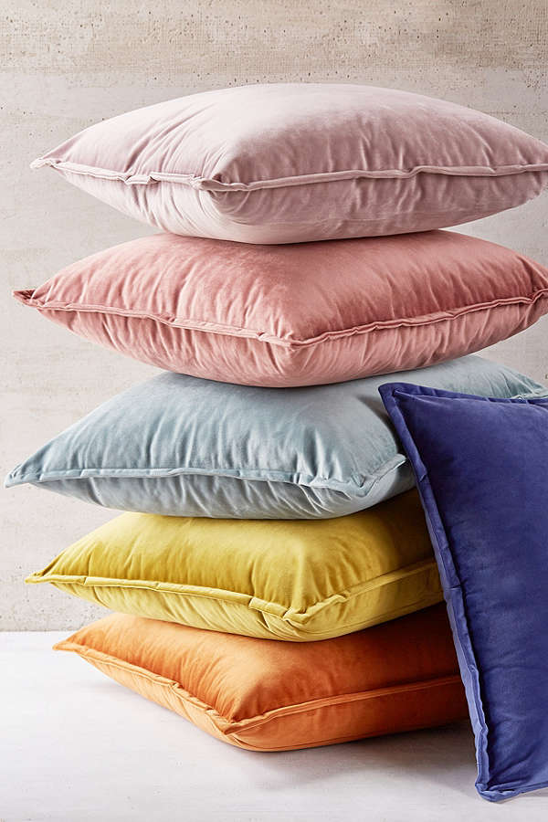 urban outfitters velvet pillows