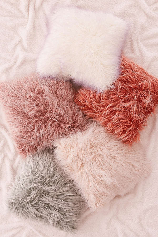 urban outfitters faux fur pillows