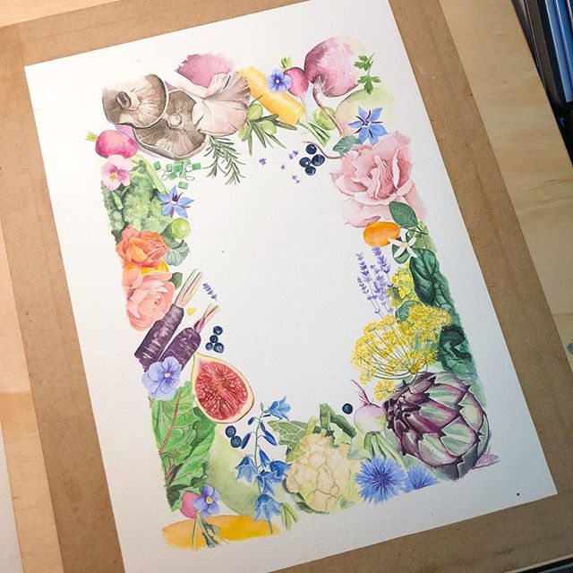 Spring has sprung.... work in progress. 🌸🥕🥦🍠