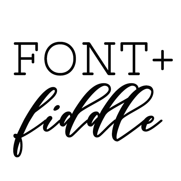font and fiddle