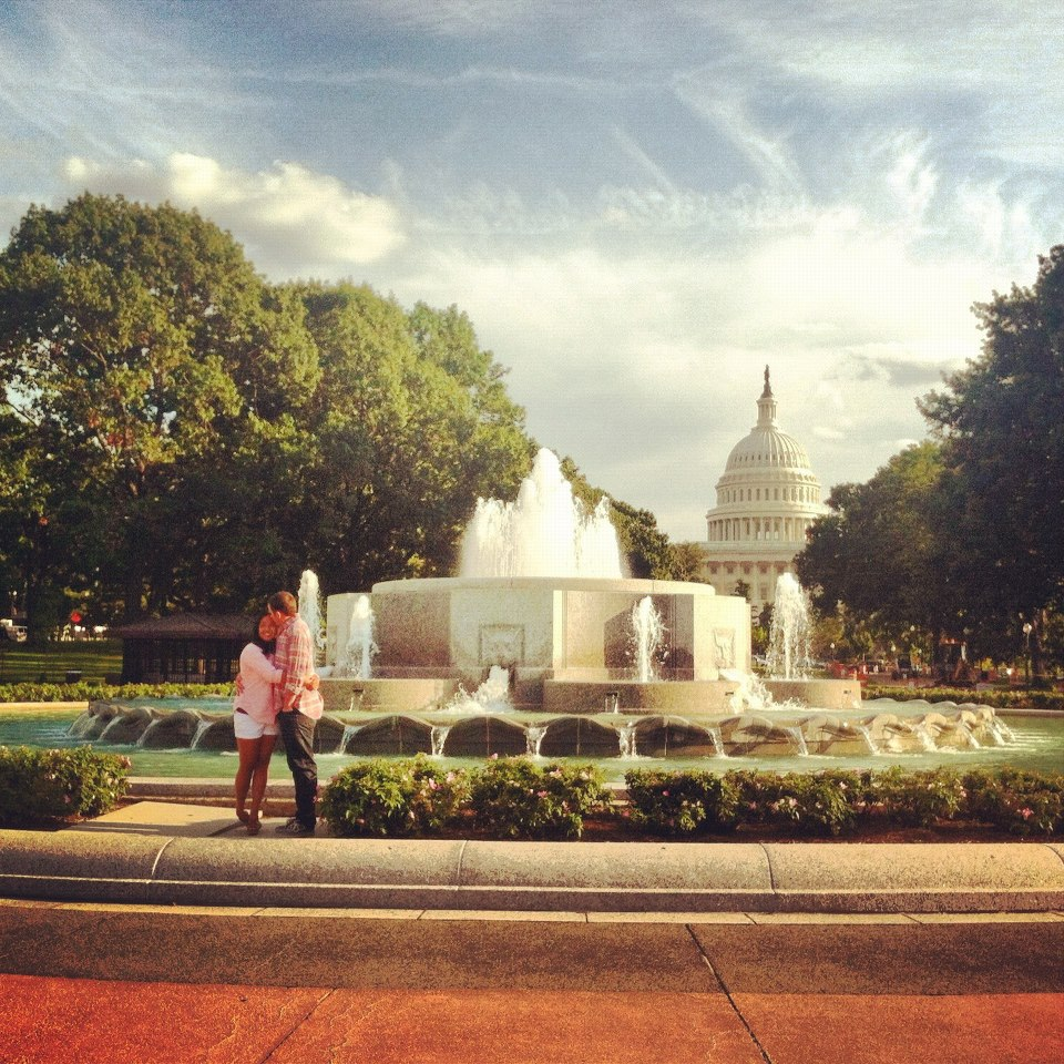 Senate Park Fountain and the Capitol Building