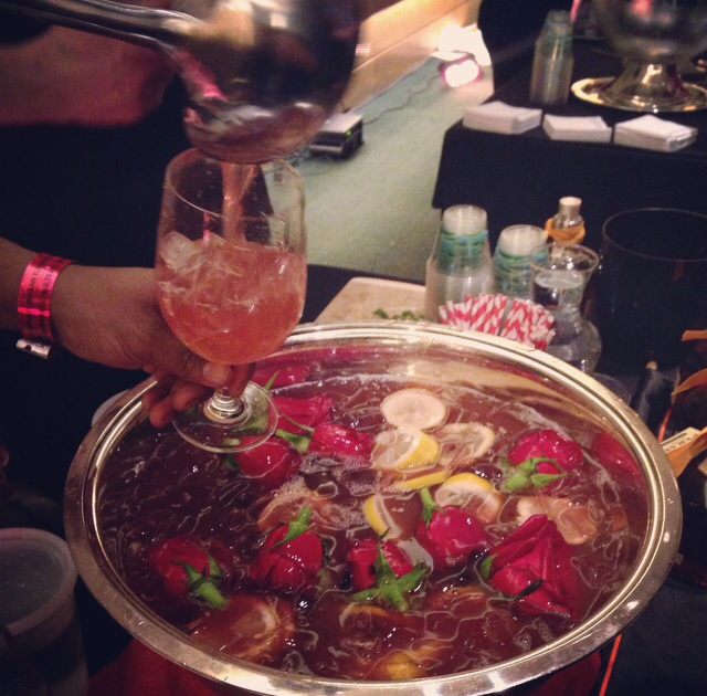 Rose infused punch