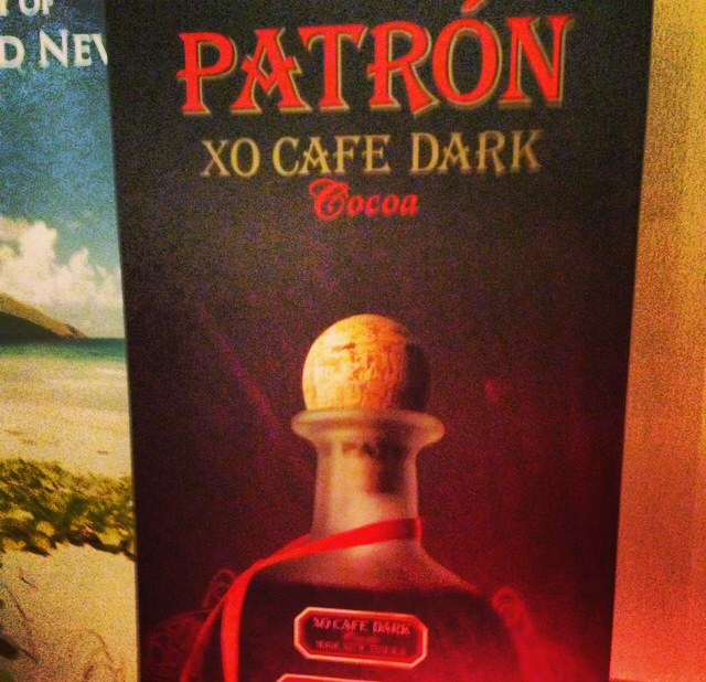 My favorite beverage was a Mexican Hot Chocolate using Patron XO Cafe Dark