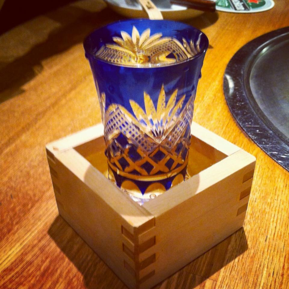 Beautiful, traditional Sake presentation