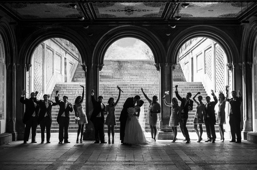 nyc loeb boathouse bridal party wedding photo