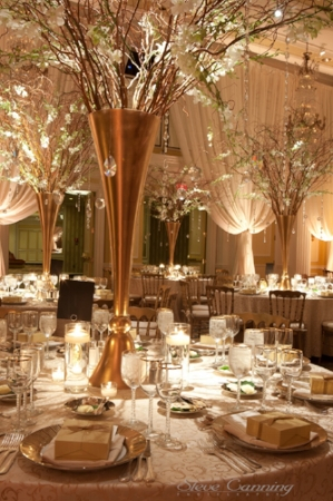 Gold and White New Years Eve Wedding with draping at the Willard InterContinental Washington DC