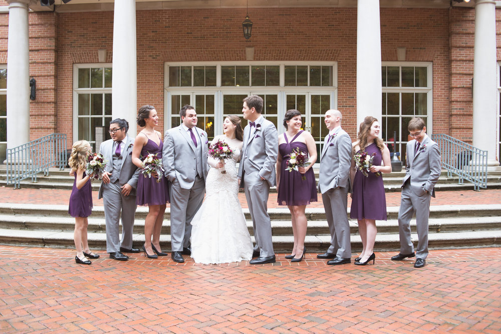 plum and gray virginia fall wedding by sincerely pete washington dc wedding planner
