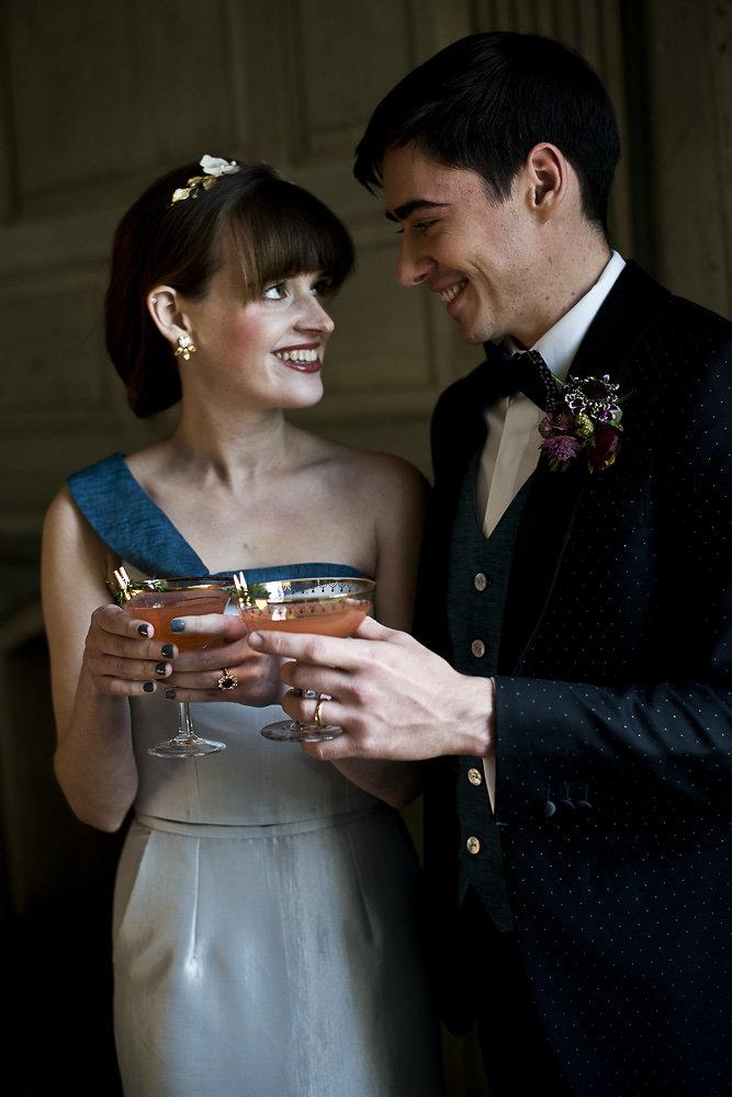 bride and groom toast romantic wedding photography washington dc