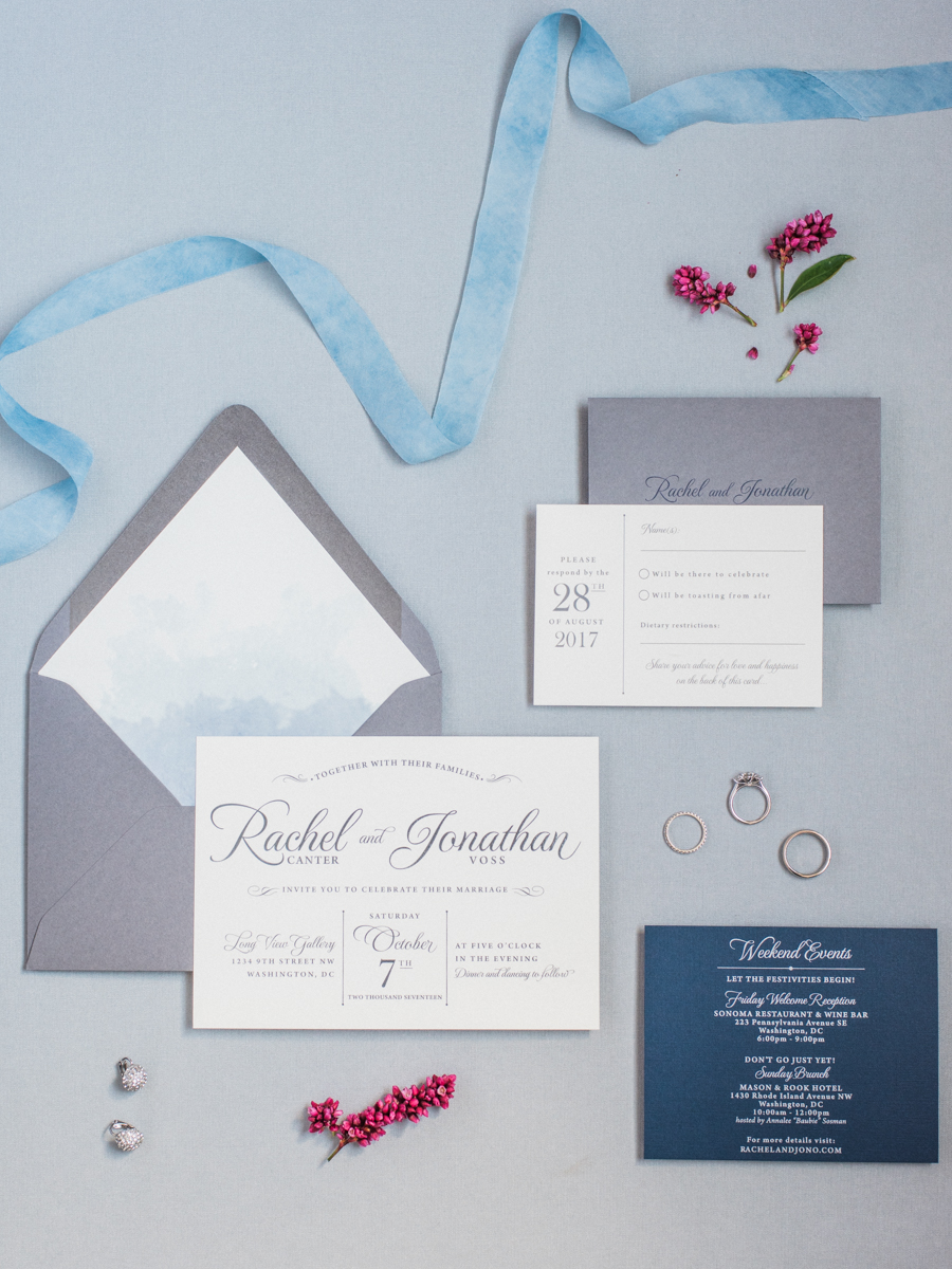 Longview Gallery Wedding Washington DC Lissa Ryan Photography Sincerely Pete Events Wedding Invite