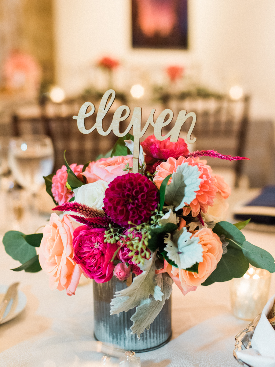 Longview Gallery Wedding Washington DC Lissa Ryan Photography Sincerely Pete Events Table Number