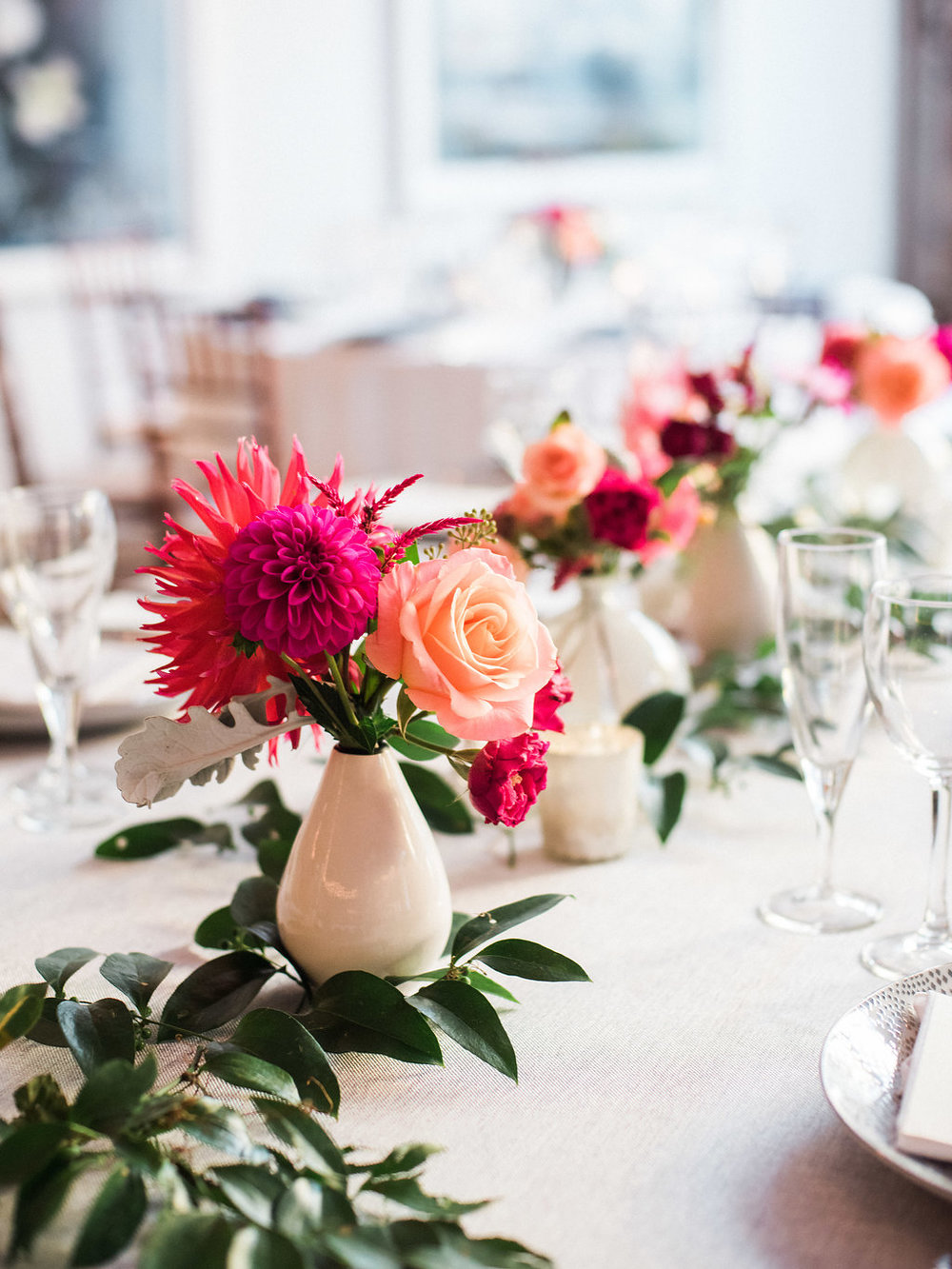 Longview Gallery Wedding Washington DC Lissa Ryan Photography Sincerely Pete Events Pink Centerpiece