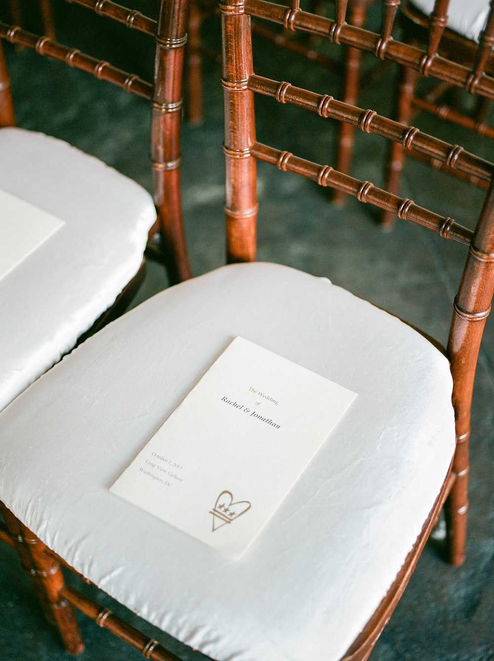 Longview Gallery Wedding Washington DC Lissa Ryan Photography Sincerely Pete Events Ceremony Program