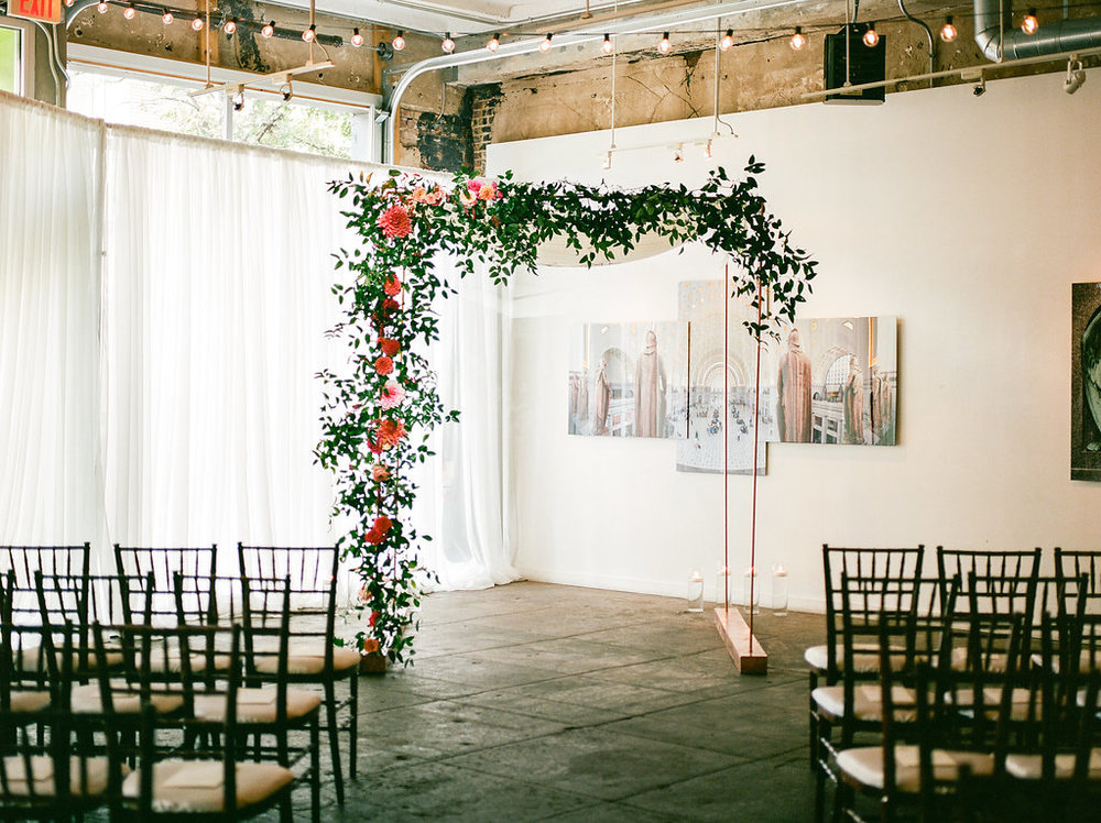 Longview Gallery Wedding Washington DC Lissa Ryan Photography Sincerely Pete Events Chuppah