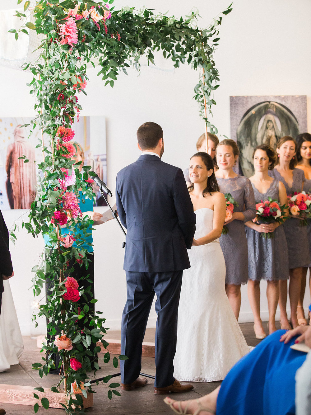 Longview Gallery Wedding Washington DC Lissa Ryan Photography Sincerely Pete Events Couple in Ceremony