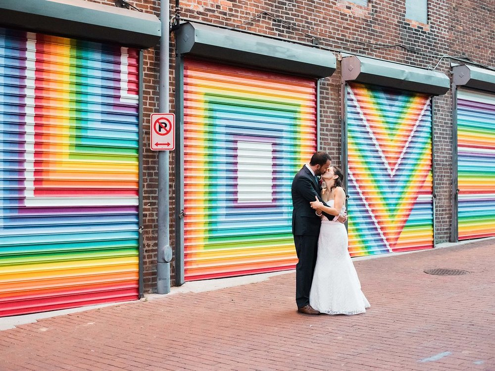 Longview Gallery Wedding Washington DC Lissa Ryan Photography Sincerely Pete Events Love Wall