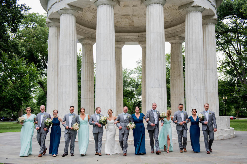 Washington DC Wedding - Sincerely Pete Events - Erin Tetterton Photography - Wedding Party Photos at the Monuments