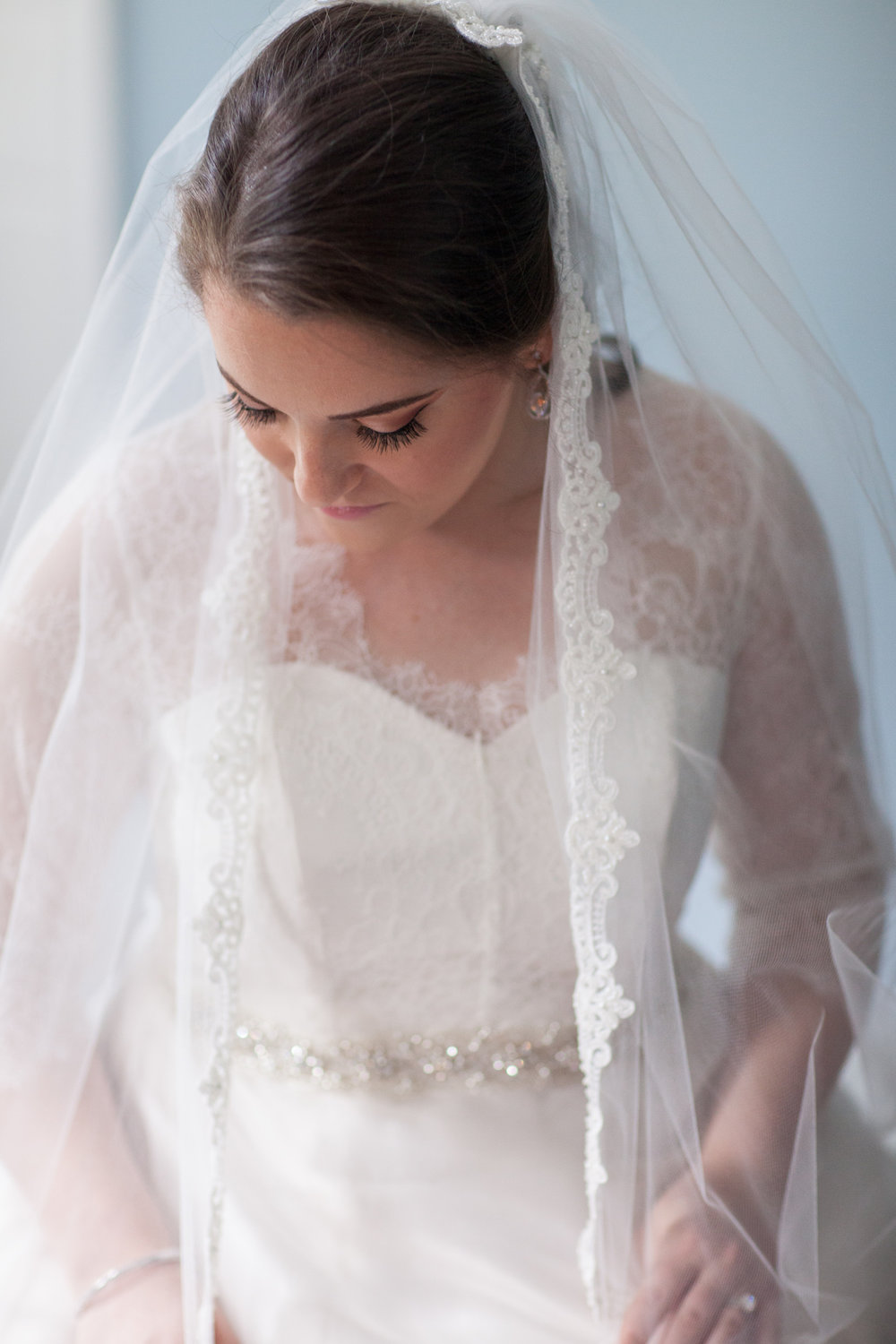 Bridal Portrait St Francis Hall Washington DC Wedding Sincerely Pete Events Liz and Ryan Photography