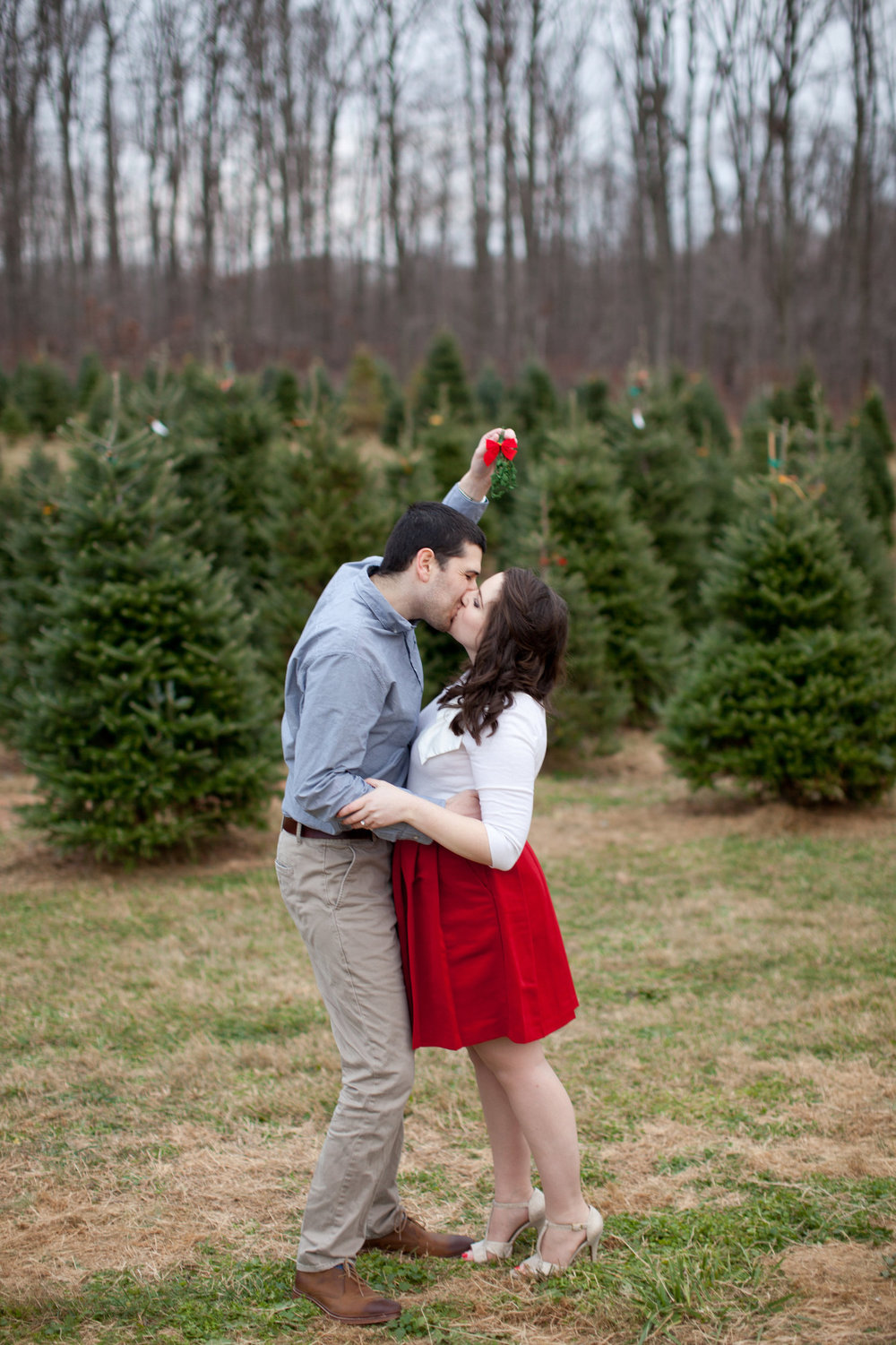 Mistletoe Christmas Tree Farm Engagement Shoot Sincerely Pete Events Liz and Ryan Photography