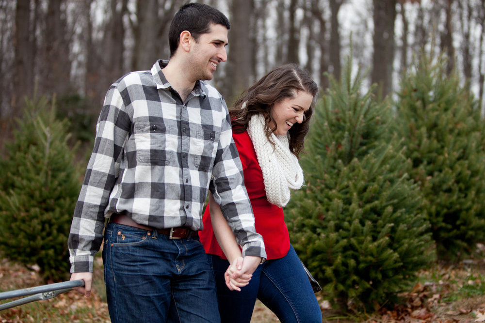 Christmas Tree Farm Engagement Shoot Sincerely Pete Events Liz and Ryan Photography