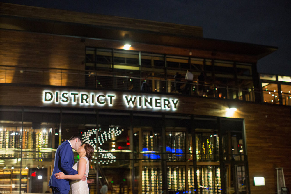 Night Photos District Winery Wedding Sincerely Pete Events Olivia Jacob Photography
