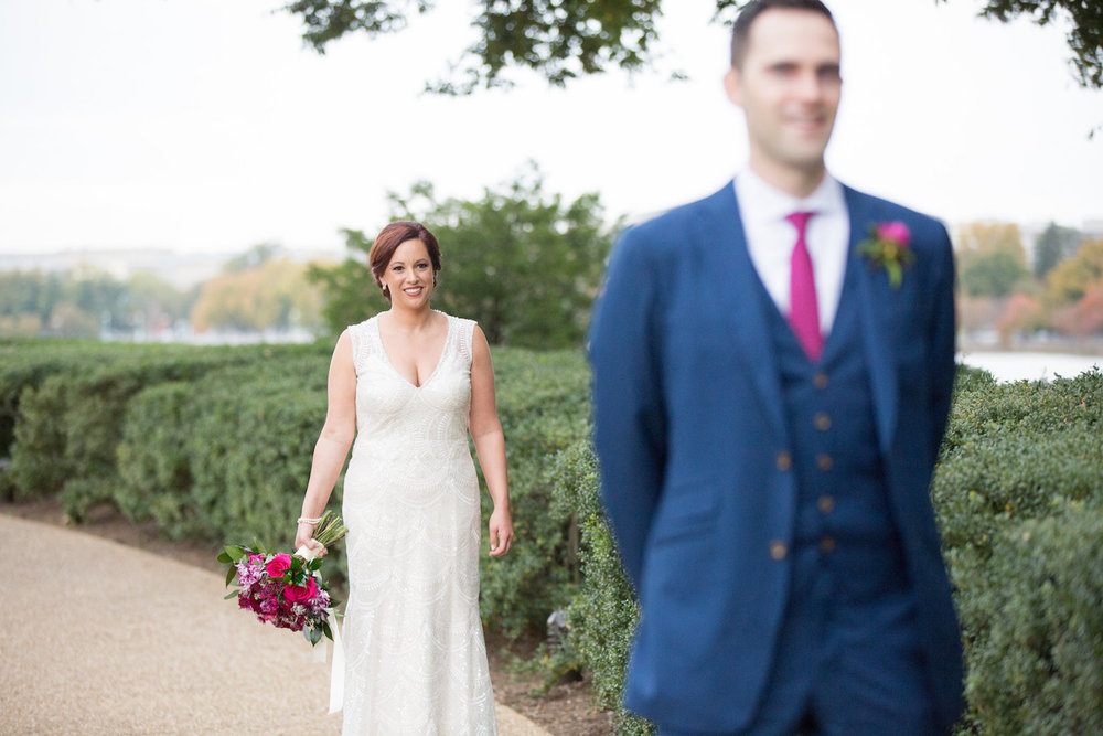 First Look District Winery Wedding Sincerely Pete Events Olivia Jacob Photography