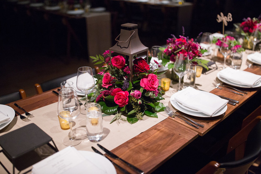 Pink Flowers in Lantern District Winery Wedding Sincerely Pete Events Olivia Jacob Photography