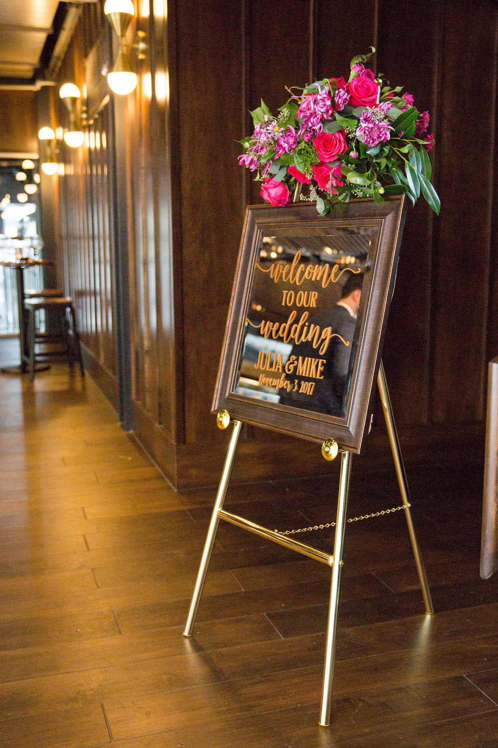 Welcome Sign District Winery Wedding Sincerely Pete Events Olivia Jacob Photography