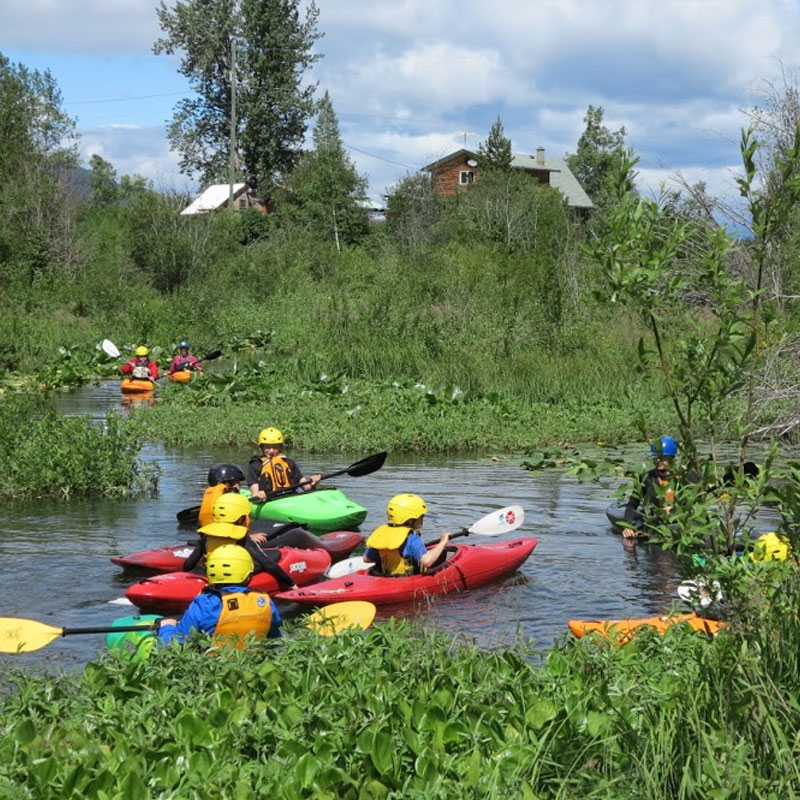 Kids Paddle Camp - Description: Learn to paddle a variety of kayaks, try out Stand up Paddle-boarding, and learn bushcraft and basic first aid skills, through games and exploration.Duration: 3 days (3hrs/day)Dates: July 18-20, August 1-3,  August 15-17Start Time: 1 pmEnd Time: 4 pmLocation: AquabaticsAges: 8-12Instructor/Participant Ratio: 1:6Price: $99. plus gst, includes all paddling gear