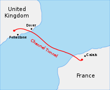 Channel Tunnel path