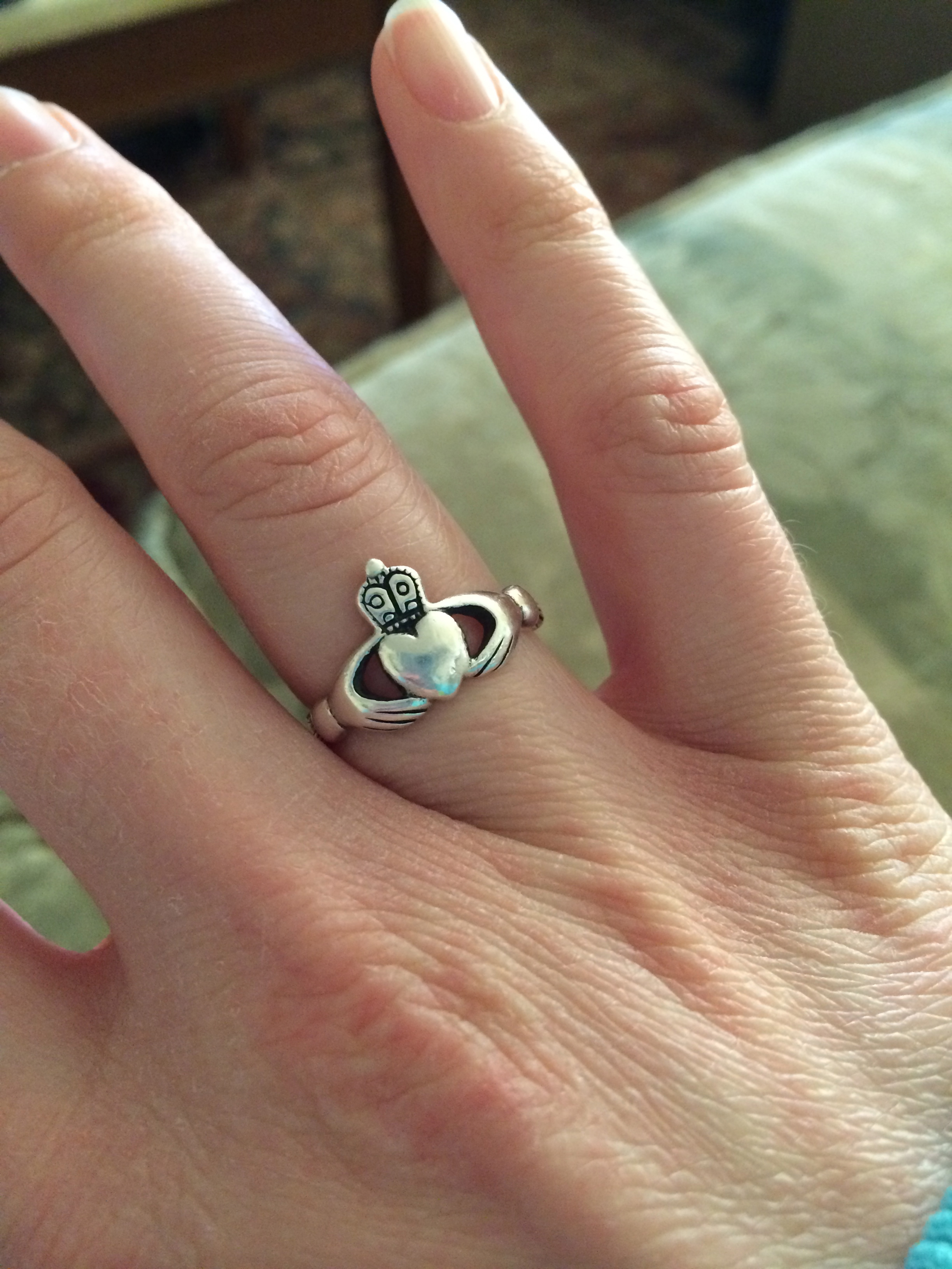 My Claddagh ring, bought in Dublin in March 2010.