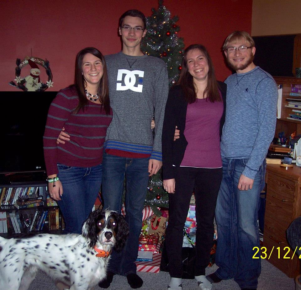 Merry Christmas 2013! (with H, Seester, and Seester's boyfriend N)