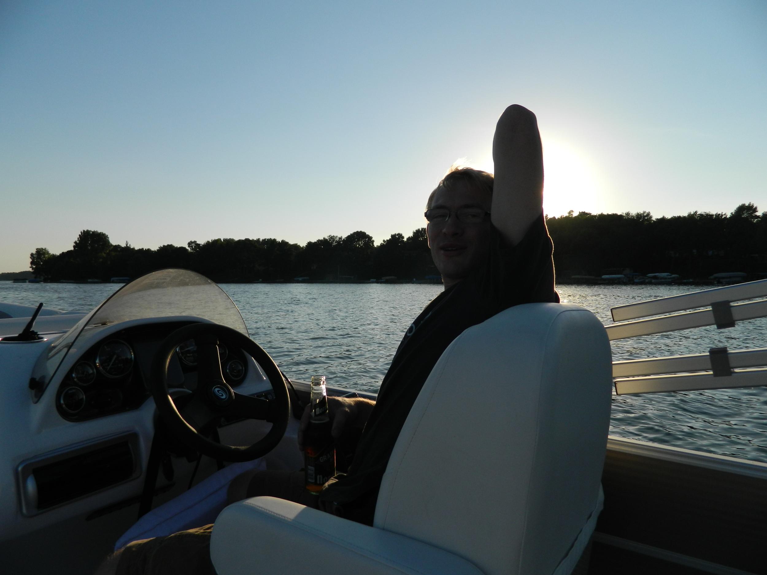 Sunset boat ride