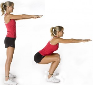 Bodyweight squat technique