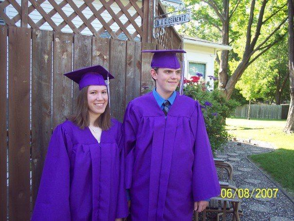 Sadly, this is the only picture I could find of us from our high school graduation.