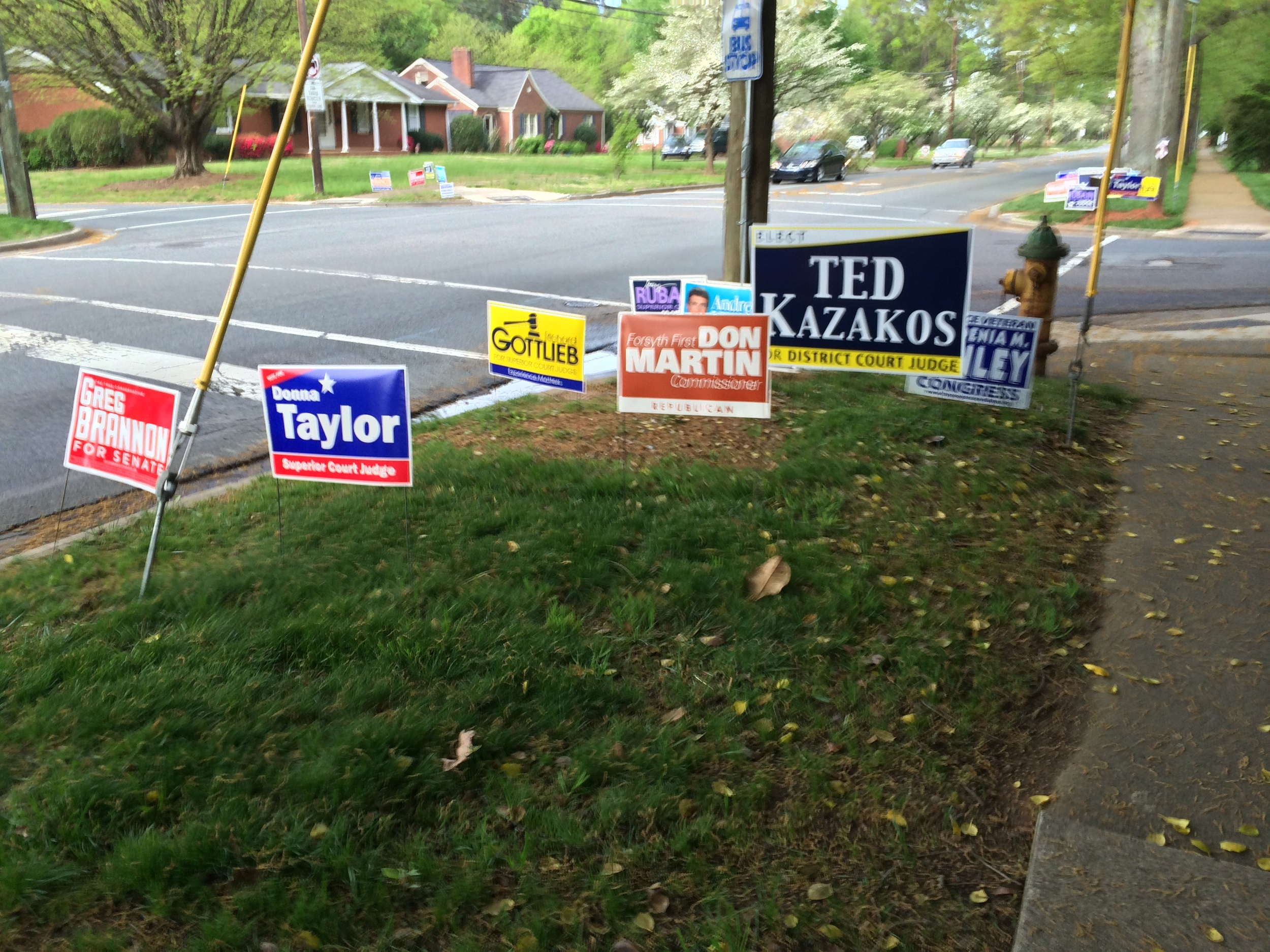 election signs...