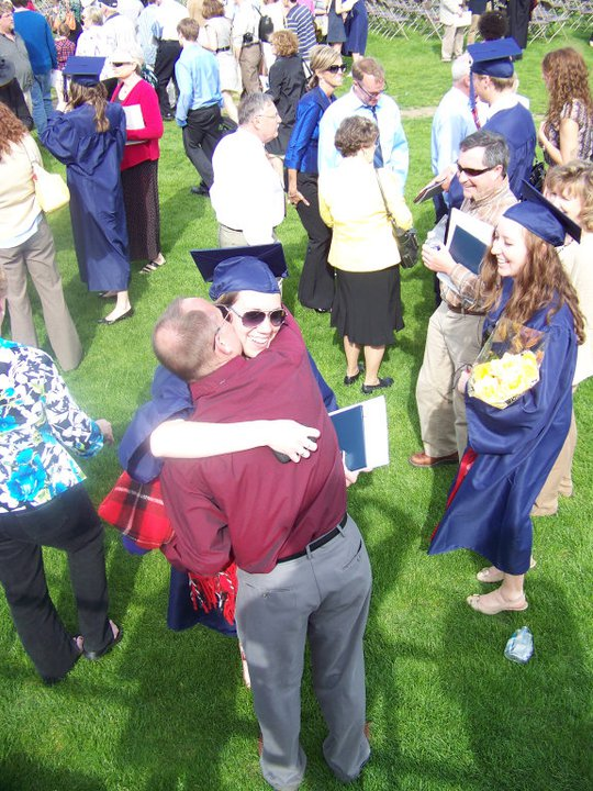dad hugs.