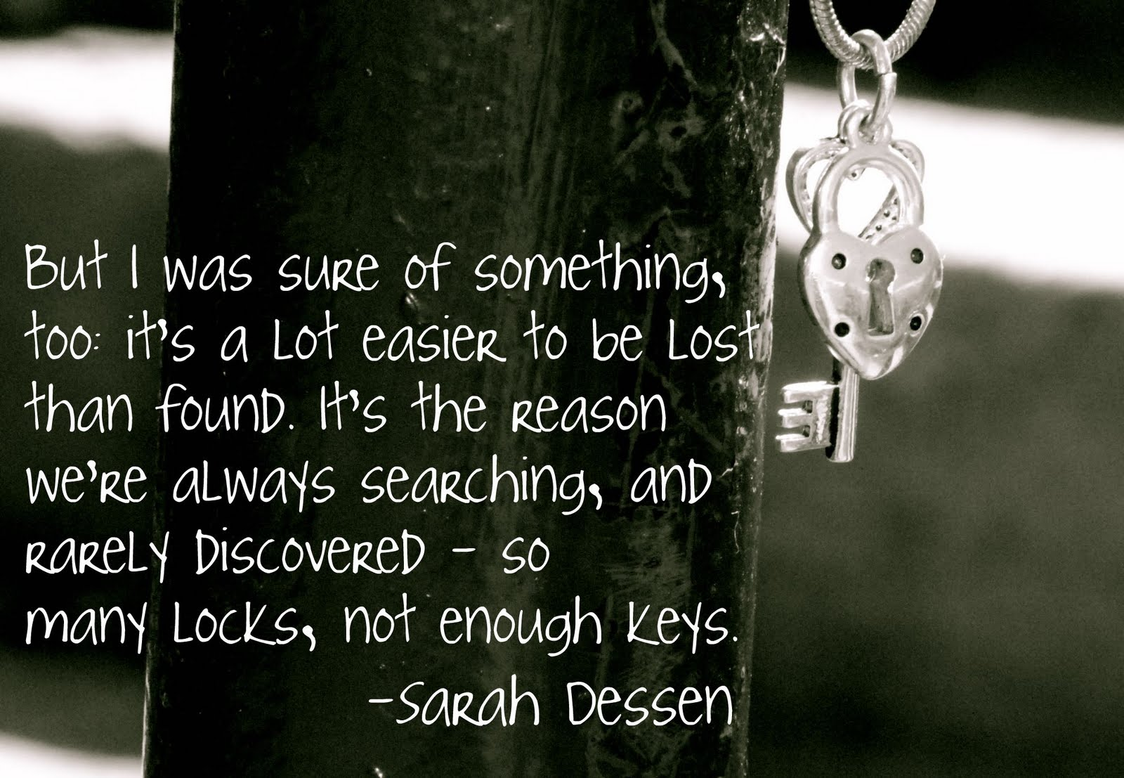 sarah dessen lock and keey