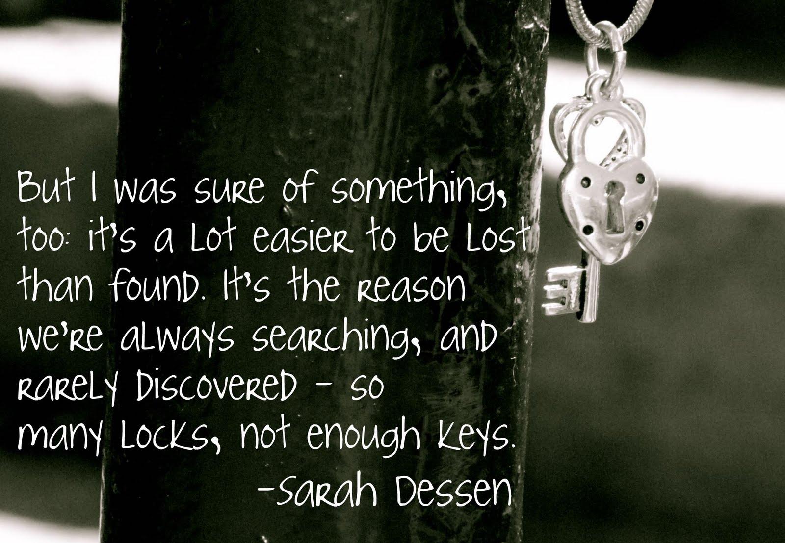 sarah dessen lock and keey