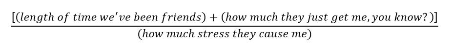 bridesmaid equation