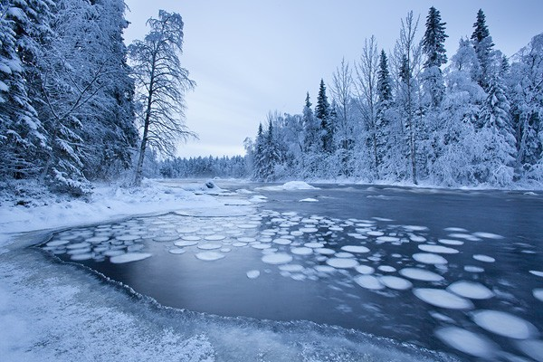 Finland in winter.
