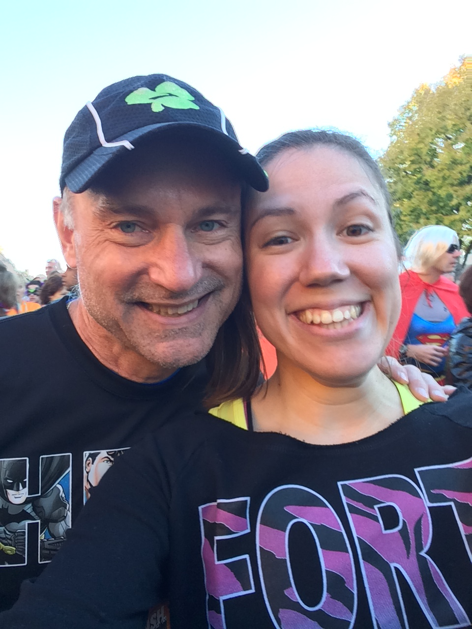Starting line selfie with Dad!