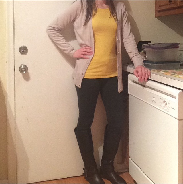 Shirt: American Eagle Cardigan: Scandal Collection at the Limited Pants: LOFT Boots: Express