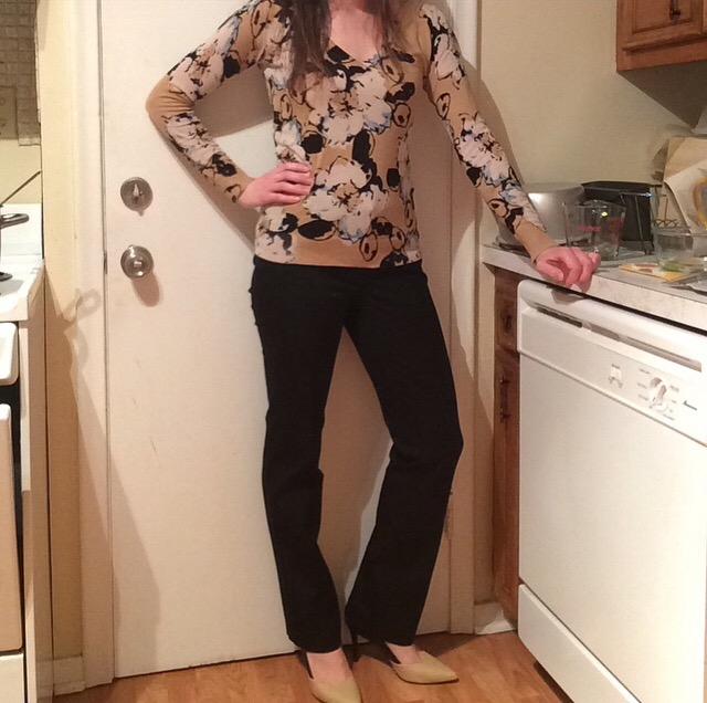 Sweater: The Limited Pants: LOFT Heels: Audrey Brooke