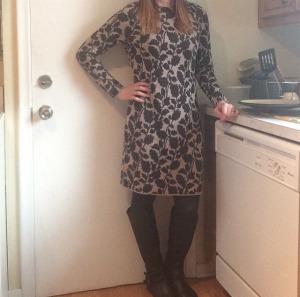 Sweater Dress: LOFT Tights: JC Penney's Boots: Express