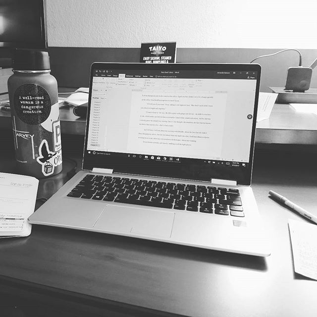 It's a beautiful evening, but I'm inspired, so I'm inside, writing. Sometimes you make sacrifices for your craft. Sometimes you don't. Today, I am. ✏ #amwriting #secretproject #indieauthor #instawriter #firstdraft