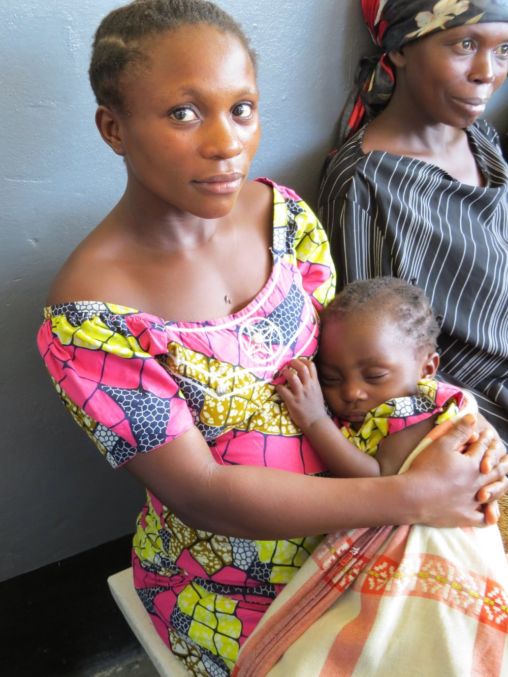 Pregnant mom waiting for an ultrasound, DRC. Photo courtesy of Jewish World Watch