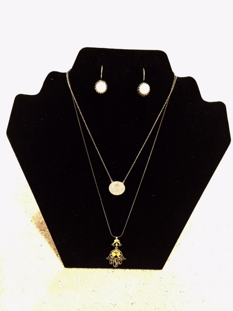 Delicate Jewelry Collection - This collection features two necklaces and a pair of earrings.