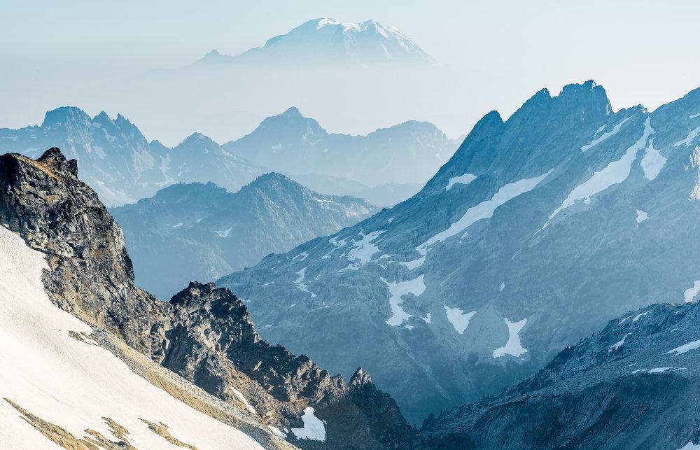Mt. Rainier as seen from Dip Top Peak.