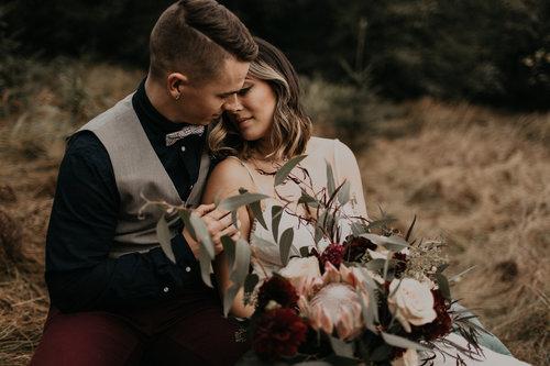 Lo + Connor // An Intimate Wedding // Kingston, WA