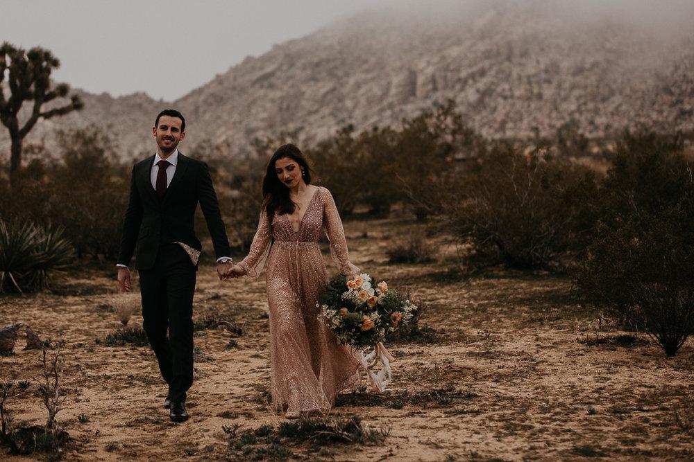Bixby + Pine Katelyn and Brent elopement in Joshua Tree California. Joshua Tree National Park